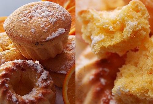 Purūs apelsininiai pyragėliai